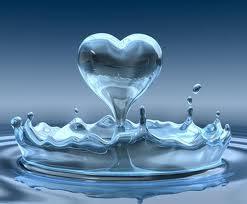 hjärta i vatten